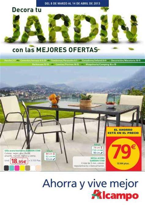 Catálogo Alcampo de muebles de jardín 2013