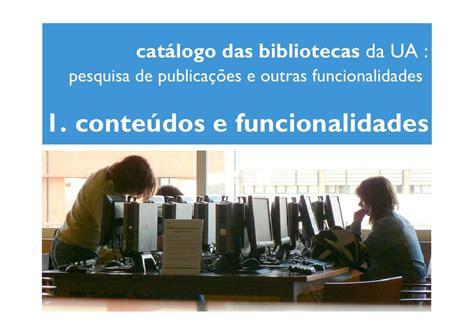 Catálogo das Bibliotecas da Universidade de Aveiro