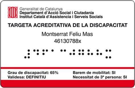 Cataluña presenta la tarjeta acreditativa de discapacidad