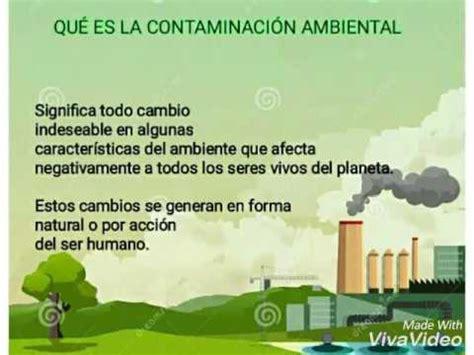 Causas y consecuencias de la contaminación ambiental - YouTube