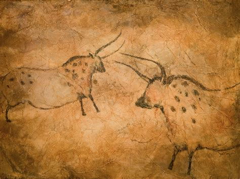 cave drawings france | Cave Art Series--Spotted Cows 8x10 ...