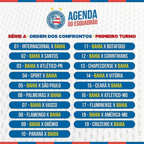 CBF divulga tabela dos jogos do Bahia no primeiro turno do ...