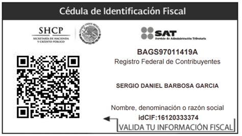 Cédula de Identificación Fiscal – Sergio Daniel Barbosa ...