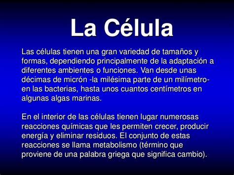 Celulas y organelos celulares