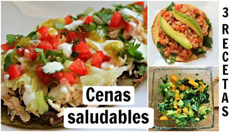 Cenas rápidas y saludables: 3 RECETAS saladas   YouTube