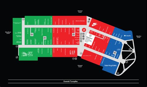Center Map For Merrimack Premium Outlets®   A Shopping ...