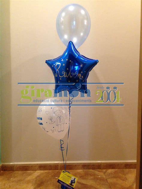 centro de mesa ccon globos con helio para decoración ...