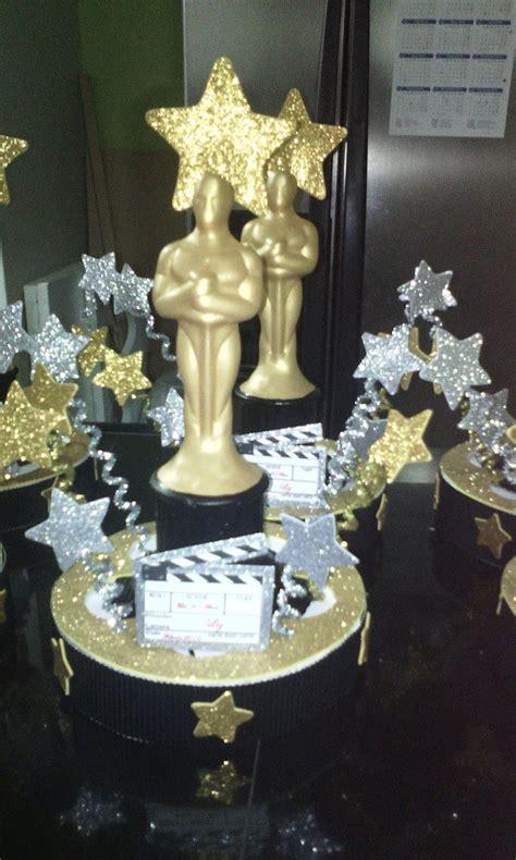 Centro De Mesa, Para 15 Años Tematica De Hollywood, Oscar ...