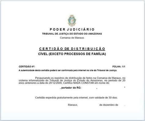 Certidão de Distribuição Criminal: Justiça Federal, como ...