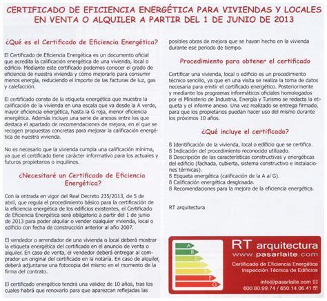 Certificado de Eficiencia Energética para viviendas - RT ...
