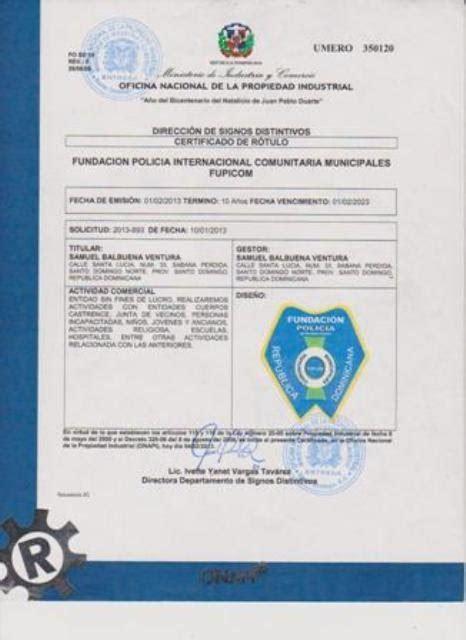 Certificado de Nombre Comercial - Fundacion Policia ...