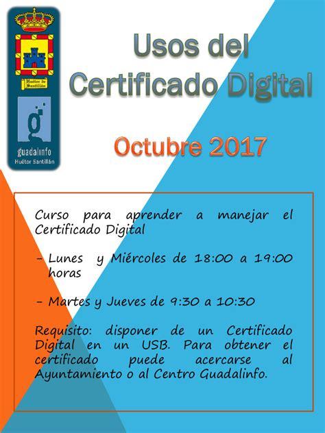 certificado digital – Huétor Santillán