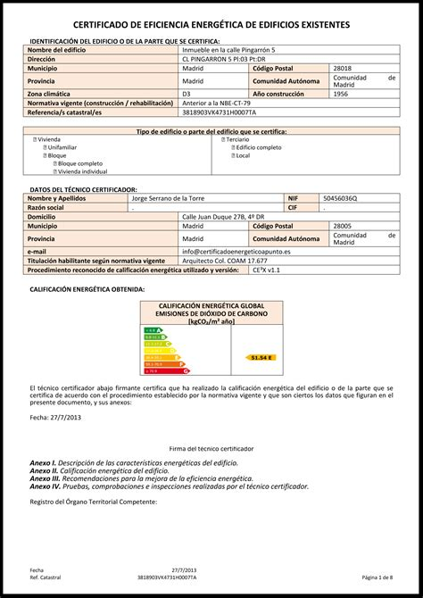 Certificado Energético | apuntoarquitectura