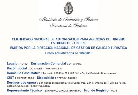 CERTIFICADO NACIONAL DE AUTORIZACION PARA AGENCIAS DE ...
