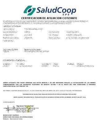 Certificado SaludCoop - GUIA COMPLETA 2017