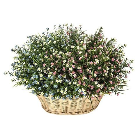 Cesta flores mini bell artificiales. http://www.lallimona ...