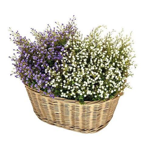 Cesto con flores gypsophila artificial. http://www ...
