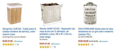 Cestos de Ropa Sucia en Amazon / Ikea / El Corte Inglés