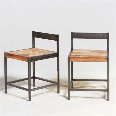 Chaise industrielle fer et boisen vente chez orign's maison