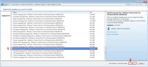 Change display language on Windows 7   Linglom.com