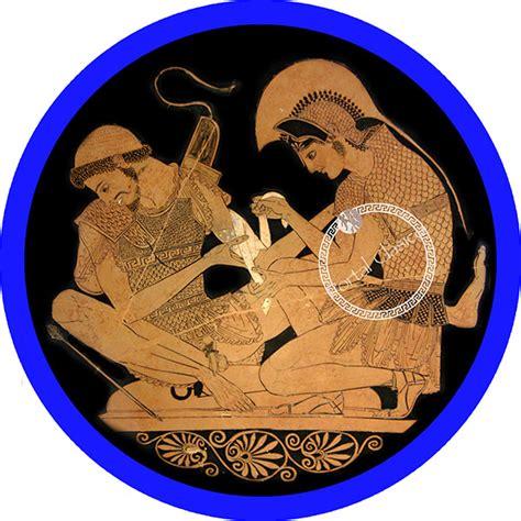 Chapa Aquiles y Patroclo  Alfiler    Portal Clásico