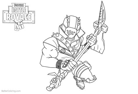 Characters from Fortnite Coloring Pages Black and White ...