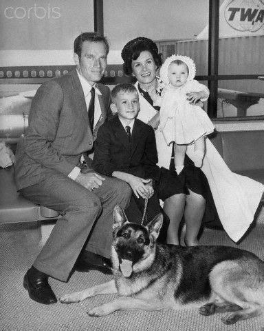 Charlton Heston, wife Lydia Clarke  m. 1944–2008 , son ...