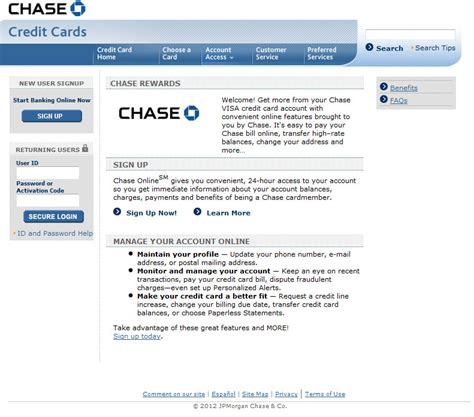 Chase Credit Card Login For Their Customers