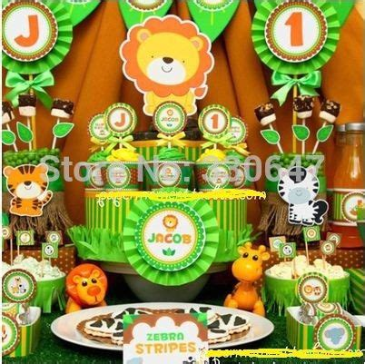 Cheap Animal de la selva forrest tema fiesta de cumpleaños ...