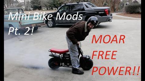 Cheap Mini Bike Mods! Pt. 2   YouTube