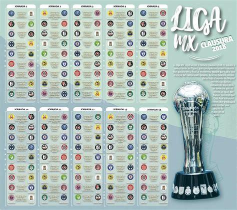 Checa el calendario completo del Clausura 2018 de la Liga ...