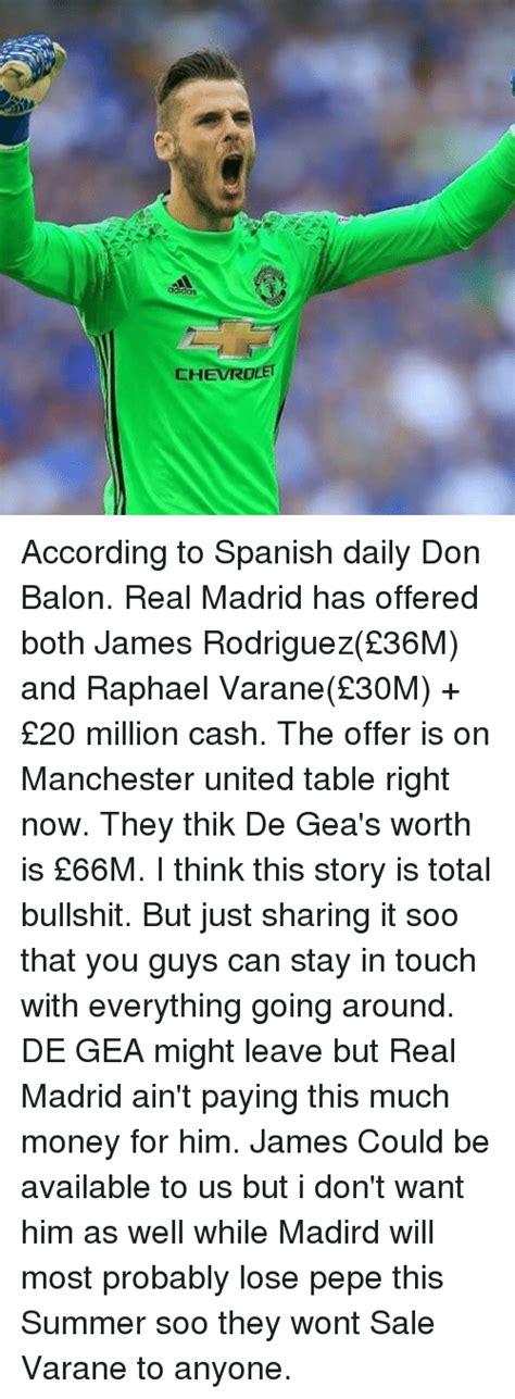 CHEVROLET According to Spanish Daily Don Balon Real Madrid ...