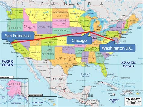 Chicago on map of usa   Chicago on USA map  United States ...