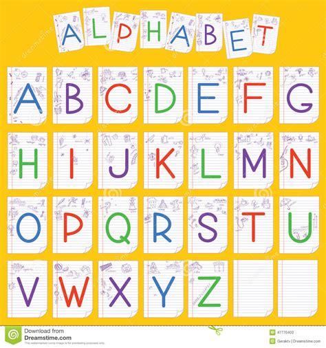 Child English Alphabet Illustration Stock Vector ...