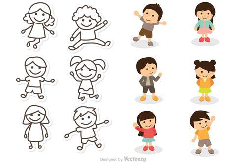 Children Illustration Vectors Pack   Download Free Vector ...