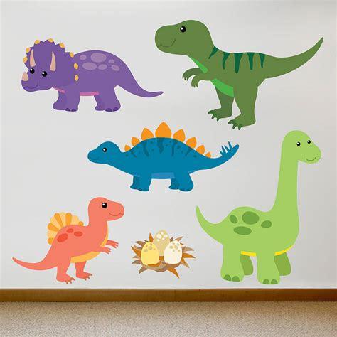 children s dinosaur wall sticker set by oakdene designs ...