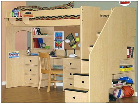 Childrens Bed With Desk Underneath Ideas | GreenVirals Style