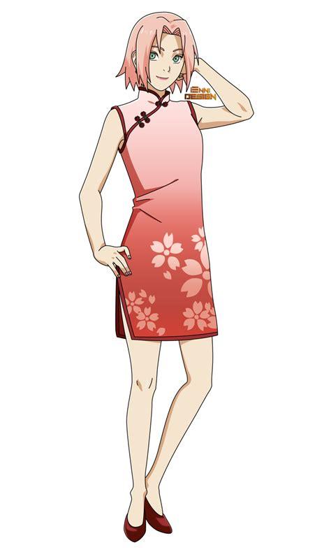 Chinese Clothing|Sakura Haruno by iEnniDESIGN on DeviantArt