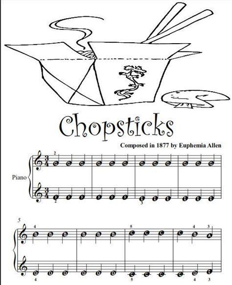 Chopsticks Beginner Tots Piano Sheet Music PDF   Ad ...