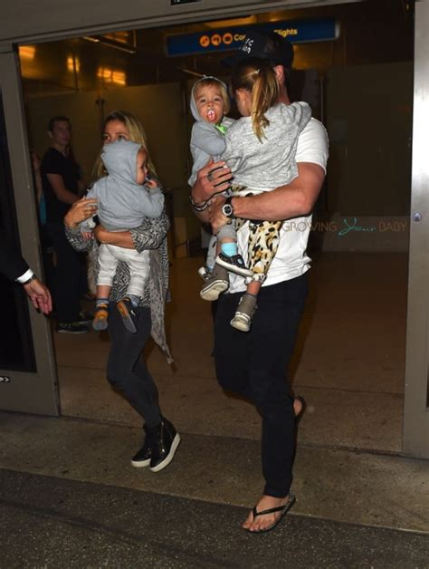 Chris Hemsworth and Elsa Pataky Arrive at LAX With Their Kids!