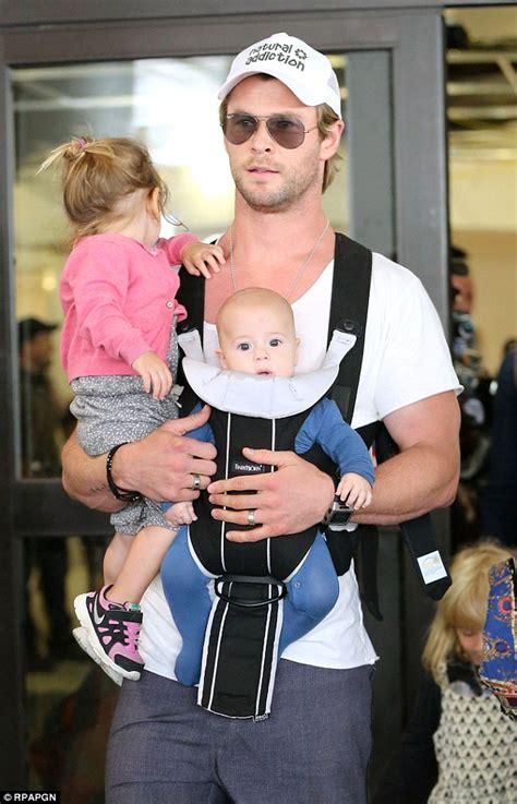 Chris Hemsworth and wife Elsa Pataky juggle their three ...