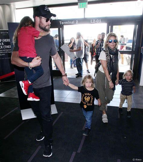 Chris Hemsworth, Elsa Pataky et leurs enfants Tristan ...
