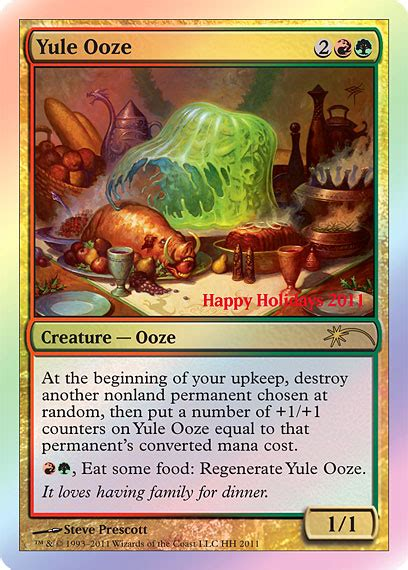 Christmas Card: Yule Ooze - The Cube Forum - The Game ...