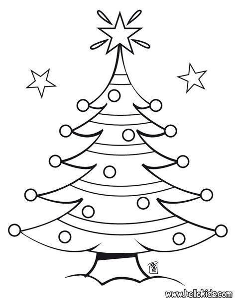 Christmas Tree Coloring Pages - Free Printable Pictures ...