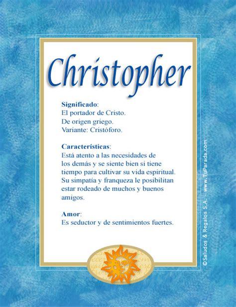 Christopher - C, tarjetas