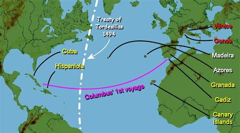 Christopher Columbus Route Map | newhairstylesformen2014.com