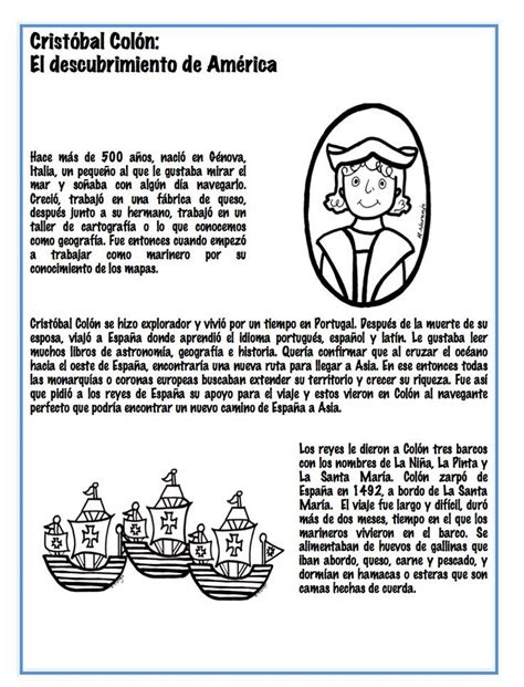 Christopher Columbus s trip to America. Spanish lesson ...
