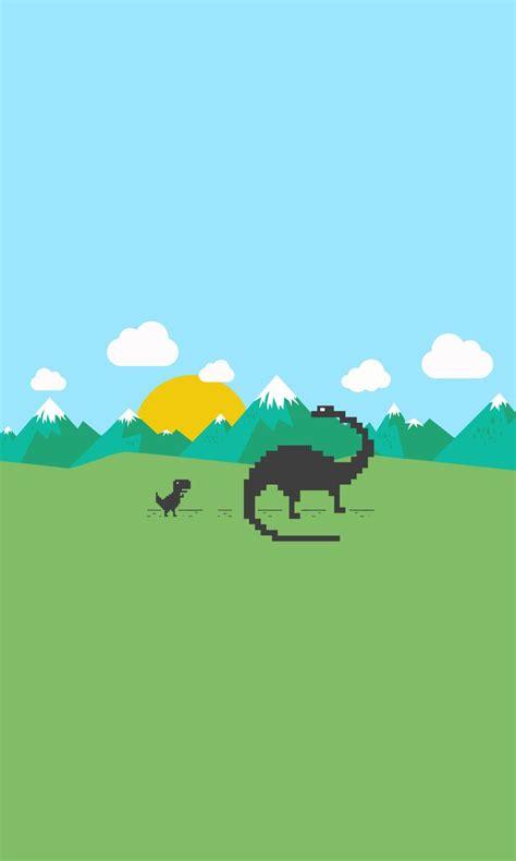 Chrome Dinosaur Mobile Wallpaper by v1adko on DeviantArt