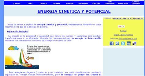 Ciencia Activa: 5.5 Energía Potencial  Energía Cinética