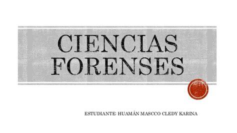 Ciencias forenses